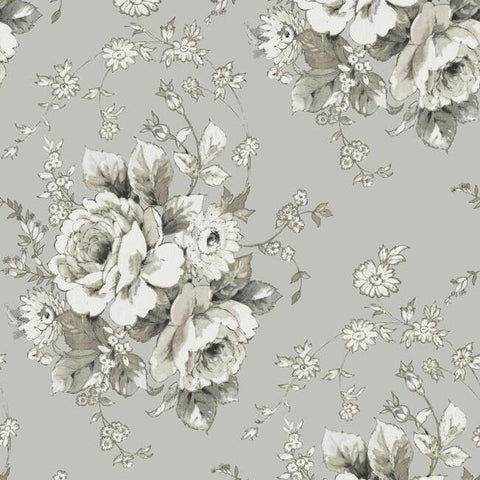 FH4089 York Flowers Heritage Rose Rustic Farmhouse Wallpaper
