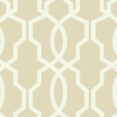 GE3665 Hourglass Trellis Tan White Wallpaper