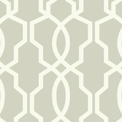 GE3667 Grey White Geometric Hourglass Trellis Wallpaper