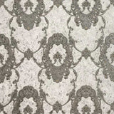 8512-08 Gray Silver Victorian Wallpaper