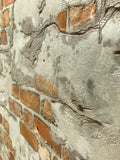5583-02 Orange Concrete Brick Rustic Wall Wallpaper