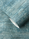75921 Rustic Blue Satin Plain Textured Wallpaper