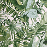 2744-24136 Brewster Palm leaves Banana Leaf White Green Tropical Wallpaper