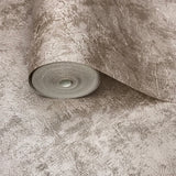 76036 Concrete Textured Plain Silver Rose Undertone Wallpaper