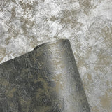 76033 Metallic Grey Silver Concrete Textured Wallpaper