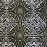 8509-10 Black White Gold Diamond Tile Wallpaper