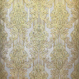 8102-05 Paper Wallpaper Victorian vintage retro damask yellow gold textured