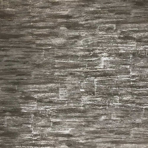 8532-12 Wallpaper charcoal dark gray metallic textured faux stone slabs 3D