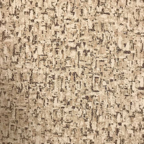 B909-01 Faux Cork Print Brown Beige Vinyl Textured Wallpaper