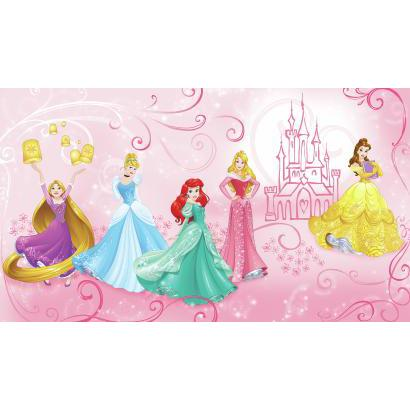 DISNEY PRINCESS ENCHANTED PRE-PASTED MURAL JL1388M