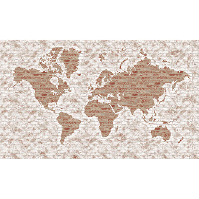 World Map Mural Brown LG1405M