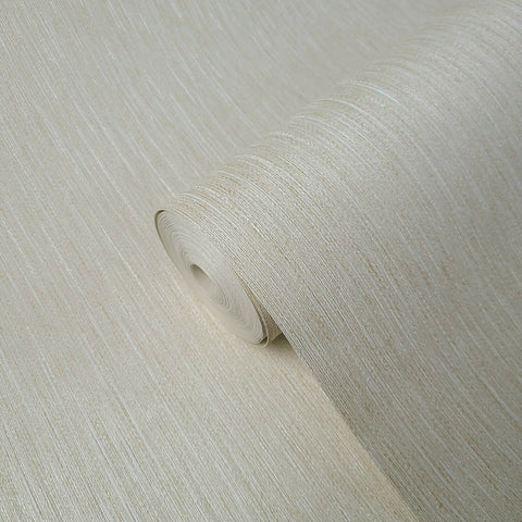M5223 Zambaiti Ivory Cream beige fabric textured stria lines Wallpaper