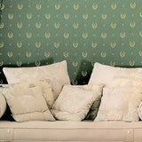 M5253 Royal green gold faux fabric textured Baroque Wallpaper