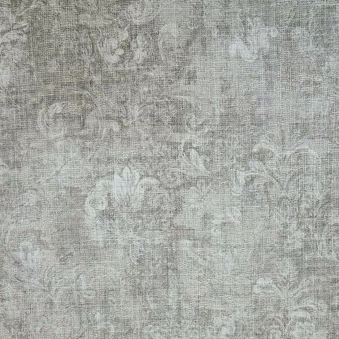 M53015 Worn Vintage damask gray silver 3D Wallpaper
