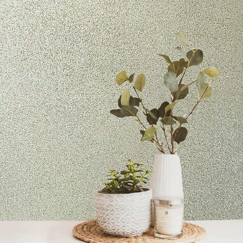 M6150 Gold Natural Real Terra Mica Stone Plain Glitter Wallpaper