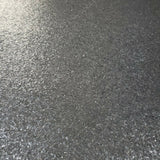 M6180 Charcoal gray Natural Terra Mica Stone Plain Glitter Wallpaper