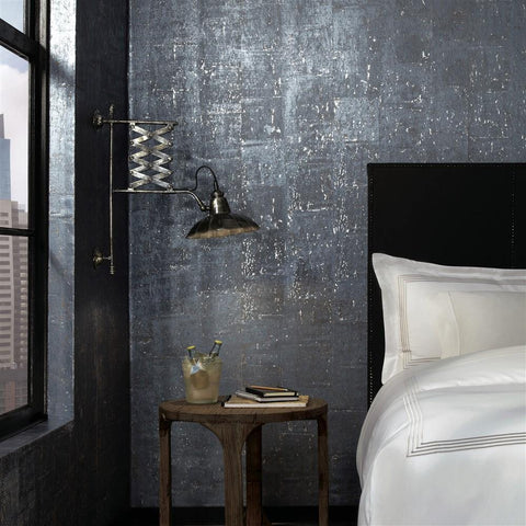 WM310953 Dark Grey Silver Natural Cork Wallpaper