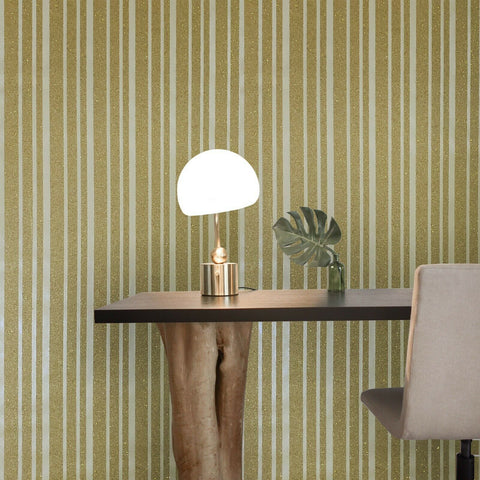 ST303 Striped Mica Vermiculite yellow gold metallic lines Wallpaper