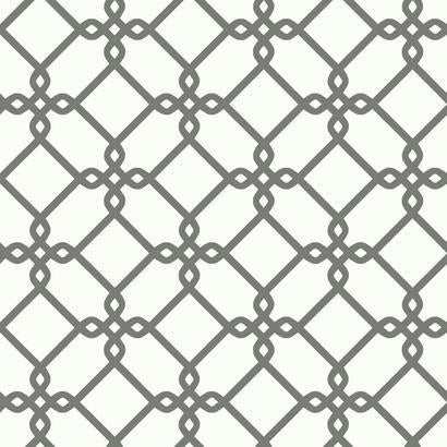 SW7494 Threaded Links White Gray Wallpaper