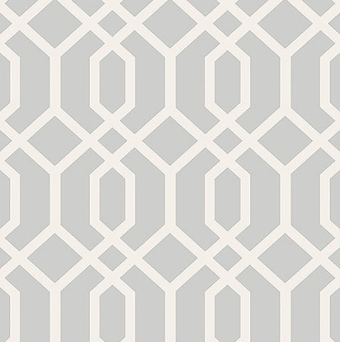 TRELLIS GREY MONTAUK Modern Contemporary WALLPAPER