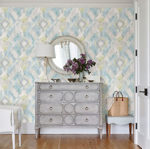 2785-24823 MIRAGE AQUA Contemporary Aquarel WALLPAPER