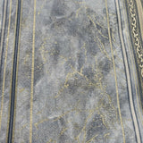 V507-03 Blue gray gold faux marble metallic striped Textured Wallpaper