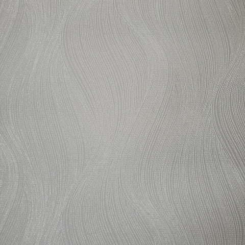 WM15310601 Wavy lines Gray off white waves Metallic glitter Wallpaper