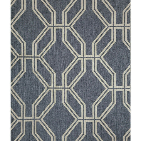 WM27528401 Geometric Textured trellis lines charcoal gray gold Wallpaper