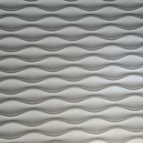 WM3170001 Wave lines 3D illusion white gray Wallpaper