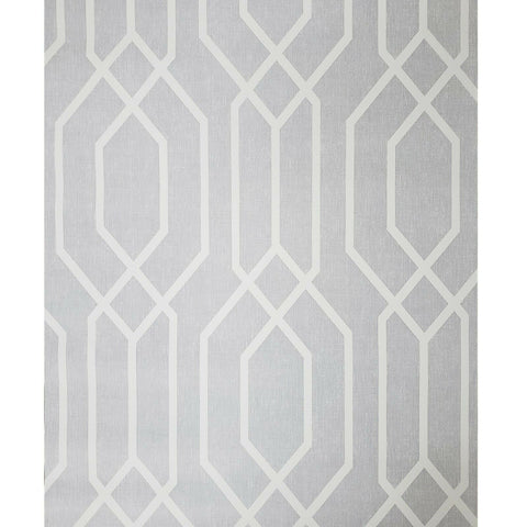 WM90830001 Geometric trellis lines ash light gray white Wallpaper