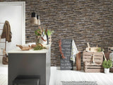 WM91421701 Brown rust purple faux sand stone 3D Wallpaper