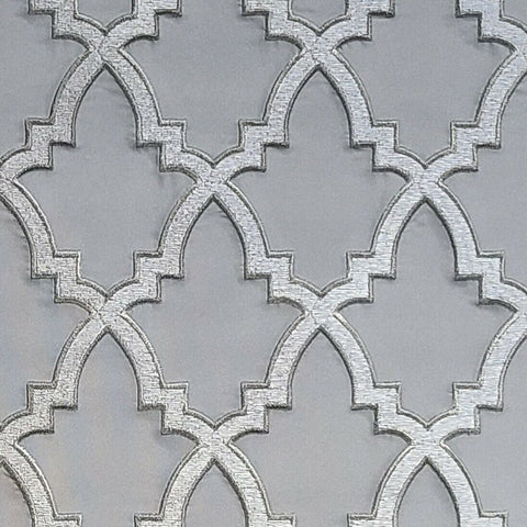WMDE12002401 Gray bronze gold geometric faux fabric trellis Wallpaper