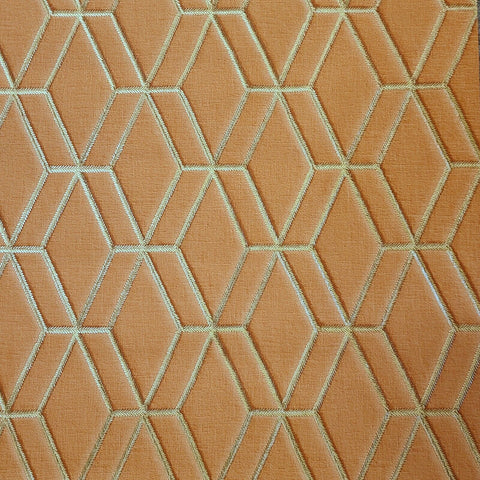 WMDE12006501 Orange gold geometric faux fabric textured triangle Wallpaper