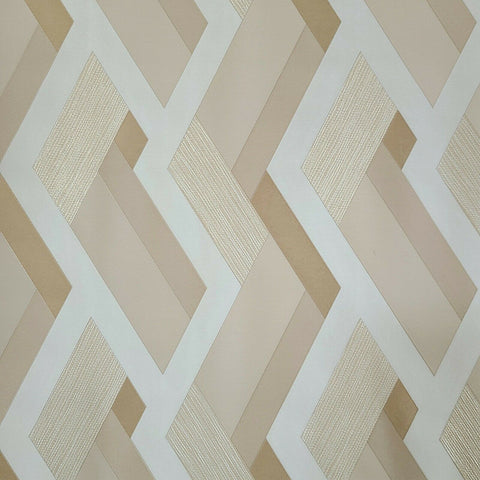 WMJM1006701 Beige tan gold metallic abstract stripes 3D Wallpaper