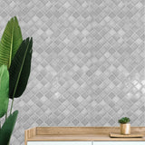 WMNF23208101 Gray Moroccan trellis faux tiles Wallpaper