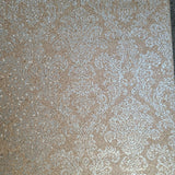 WMSR21010501 Faux Mica vermiculite stone  brass tan gold damask Wallpaper