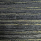 WMSR21060601 Faux Layered stone charcoal gray black gold Wallpaper