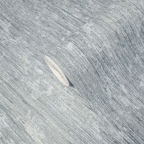 Z1724 Zambaiti Stria lines Textured Gray silver metallic rustic wood Wallpaper