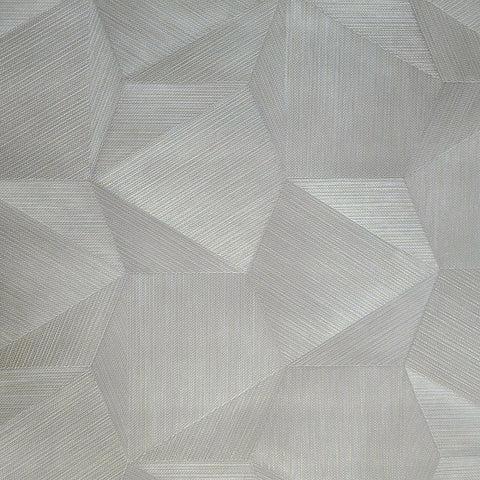 Z21843 Taupe Gray Tan gold hexagon triangles fabric 3D illusion Wallpaper