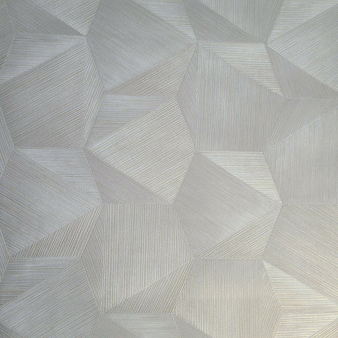 Z21846 Beige gold Tan hexagon triangles faux grasscloth 3D illusion Wallpaper