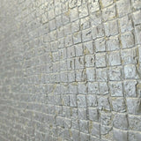 Z2906 Zambaiti Industrial gold gray silver metallic tiles textured Wallpaper