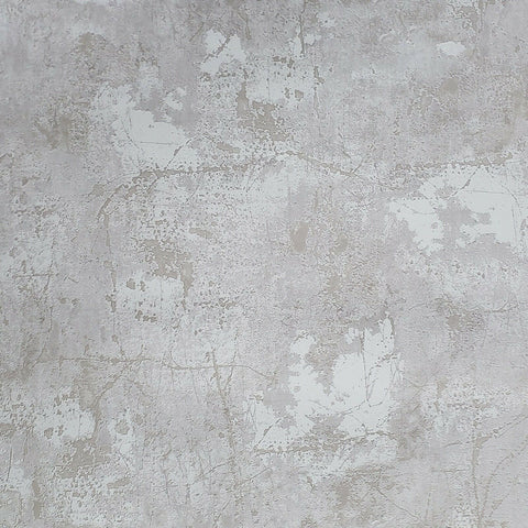 Z44540 Zambaiti Industrial tan gray white rusted Concrete Plaster Textured wallpaper