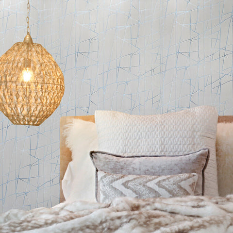 Z44549 Zambaiti Modern beige tan cream blue metallic Textured lines wallpaper
