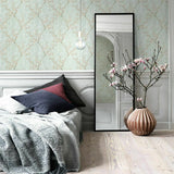 Z44667 Zambaiti Embossed Vicrtorian Blue pink floral branches Wallpaper
