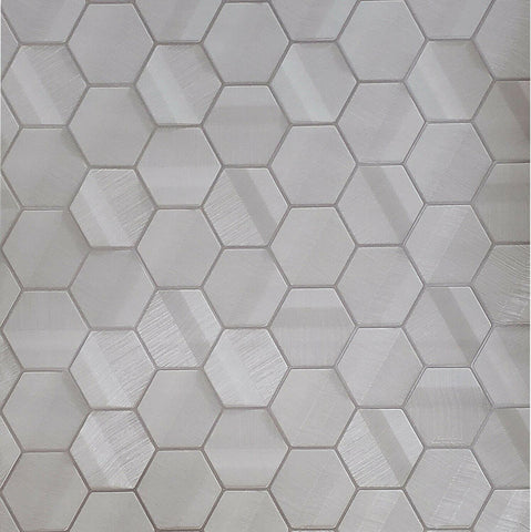 Z44807 Lamborghini Hexagon taupe metallic fabric textured Geometric 3D Wallpaper