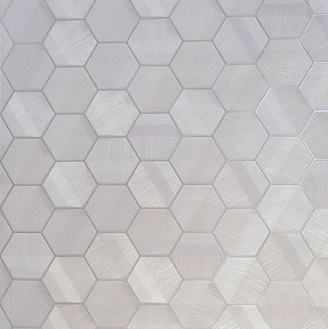 Z44808 Lamborghini Hexagon rose silver metallic textured Wallpaper