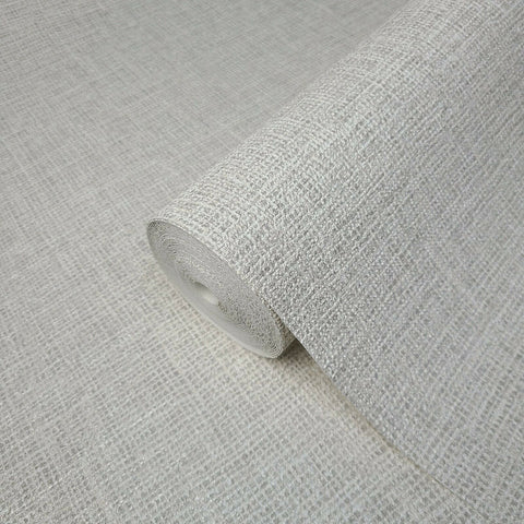 Z44914 Zambaiti Gray of white faux Sackcloth fabric textured plain Wallpaper
