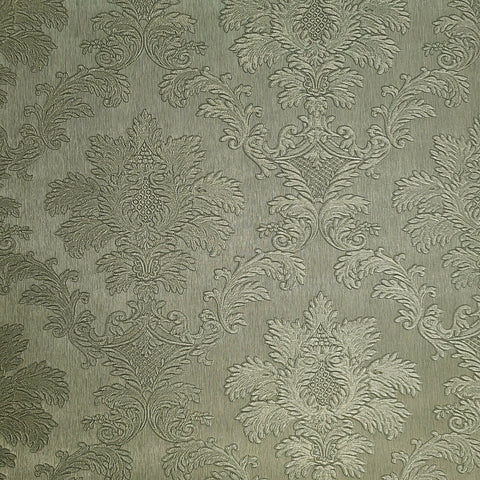 Z72001 Zambaiti Brass bronze metallic textured Victorian damask Wallpaper