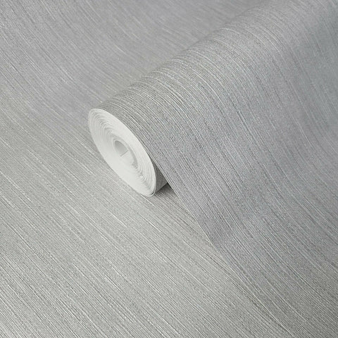 Z72012 Zambaiti Gray silver metallic faux fabric textured stria lines Wallpaper