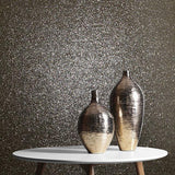 M6012 charcoal black Natural Terra Mica Stone Wallpaper Glitter effect